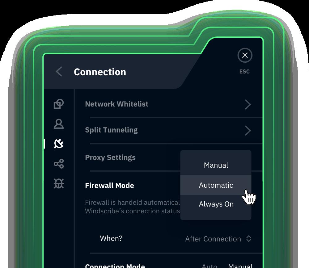 Windscribe Firewall Mode